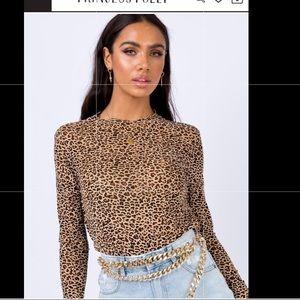 Princess Polly boutique Leopard top